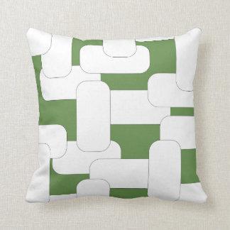Linked White & Green Cushion