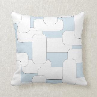 Linked White & Light Blue Cushion