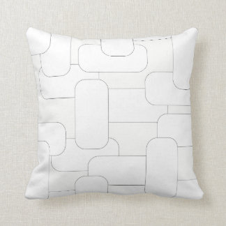 Linked White on White Throw Pillow
