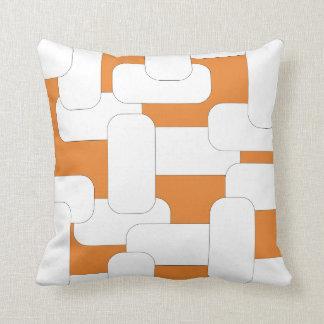 Linked White & Orange Cushion