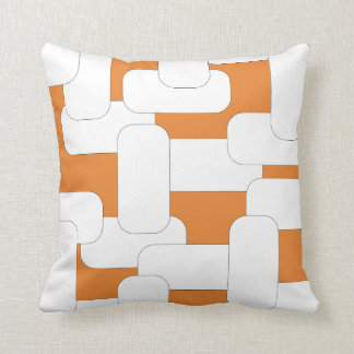 Linked White & Orange Throw Pillow