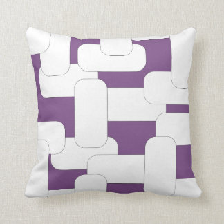 Linked White & Purple Throw Pillow