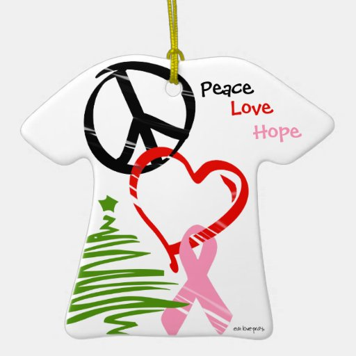 Linking Peace Love Hope Christmas Ornaments