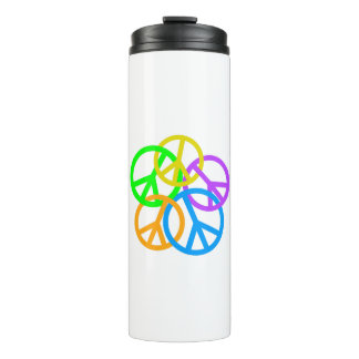 LINKING PEACE SIGNS THERMAL TUMBLER