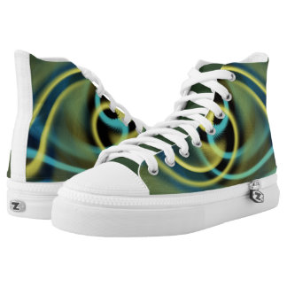 Linking Swirls High Top Shoes Printed Shoes
