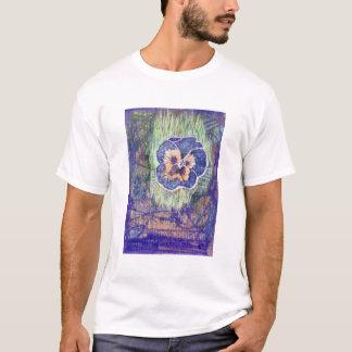 Linoleum Block Print of Pansy T-Shirt