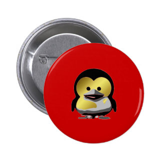 Linux Baby Tux d'Or 6 Cm Round Badge
