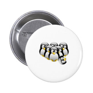 Linux Bowling Pinback Buttons