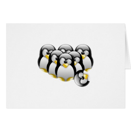 Linux Bowling Greeting Cards