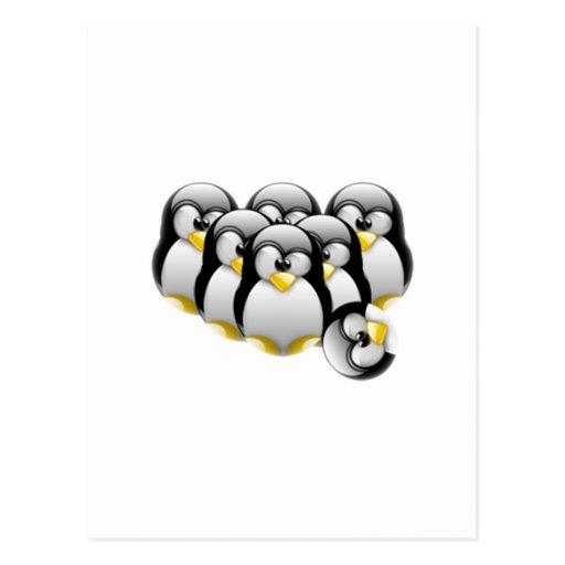 Linux Bowling Postcard