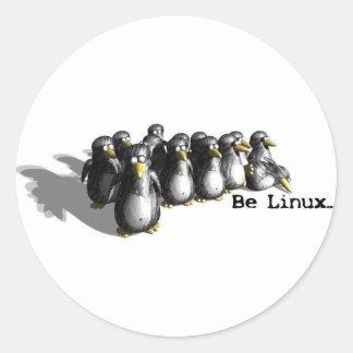 Linux Group Round Sticker