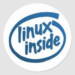 Linux Inside Round Stickers