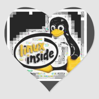 LINUX INSIDE Tux the Linux Penguin Logo Stickers