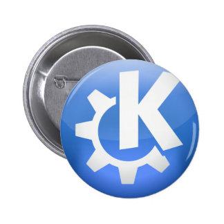 Linux KDE 6 Cm Round Badge