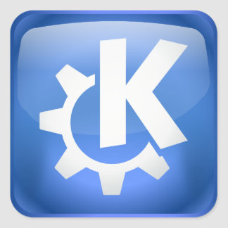 Linux KDE Square Sticker
