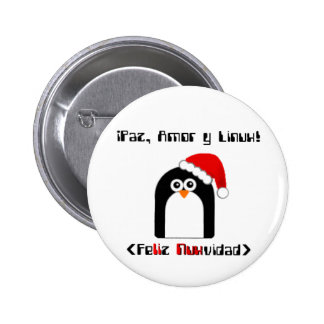 Linux Merry Christmas 6 Cm Round Badge