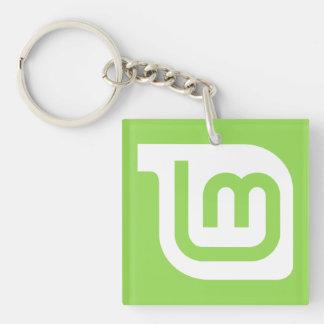 Linux Mint Square Key Chain
