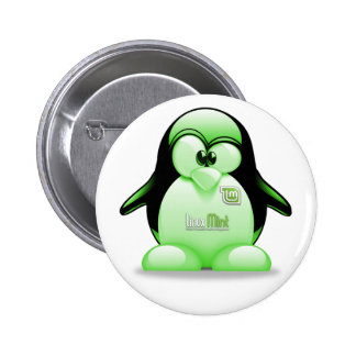 Linux Mint with Tux Logo 6 Cm Round Badge