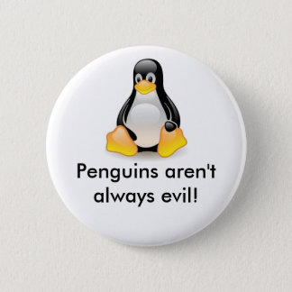 linux-penguin-tux 6 cm round badge