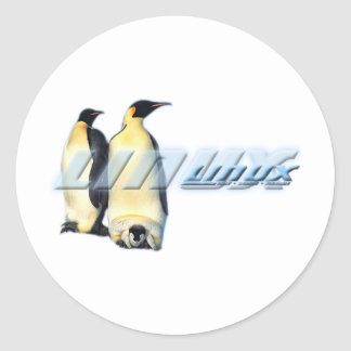 Linux Penguins Classic Round Sticker