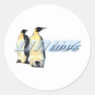 Linux Penguins Round Sticker