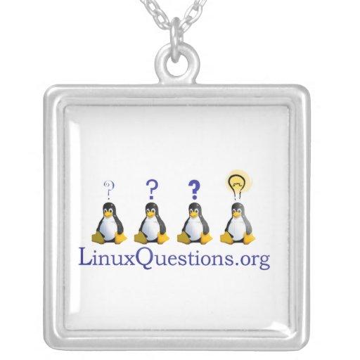 Linux Questions Logo Necklaces