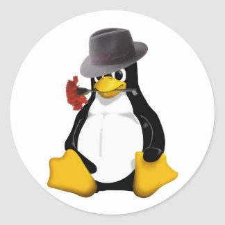Linux tango round sticker