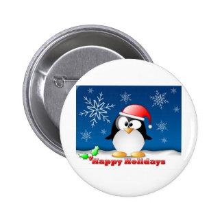 linux_tux_christmas_wallpaper.jpg 6 cm round badge
