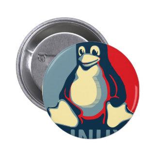 Linux tux penguin classic obama poster 6 cm round badge