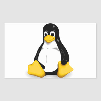 Linux Tux Products Rectangular Stickers
