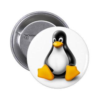 Linux Tux the Penguin 6 Cm Round Badge