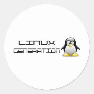 LinuxGeneration Round Sticker