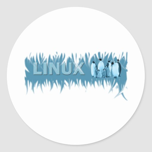 Linuxs Penguins Round Sticker