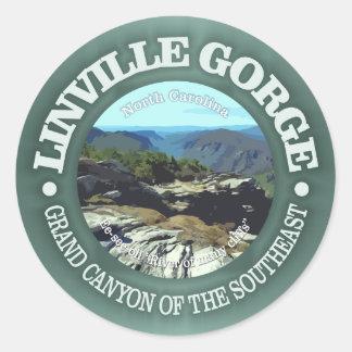 Linville Gorge Classic Round Sticker