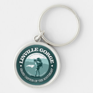 Linville Gorge Silver-Colored Round Key Ring