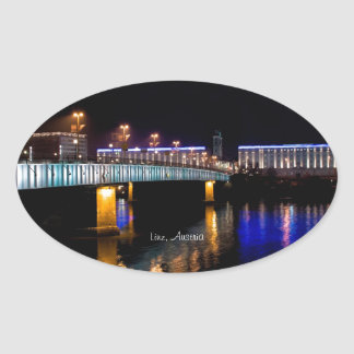 Linz, Austria Oval Sticker