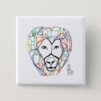 lion 15 cm square badge