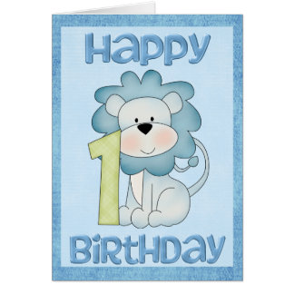 Lion 1st Birthday Card