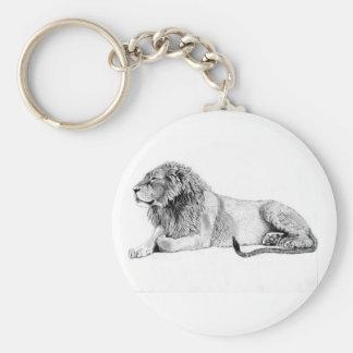Lion 5.7 cm Basic Button Key Ring