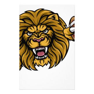 Lion American Football Ball Sports Mascot Stationery
