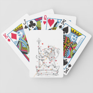 lion and bicycle playing cards