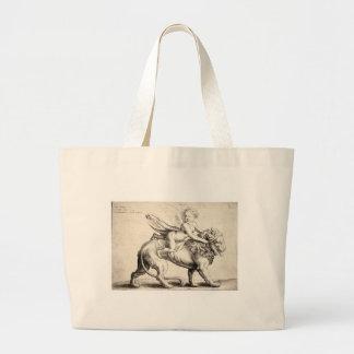 lion and cherub bag
