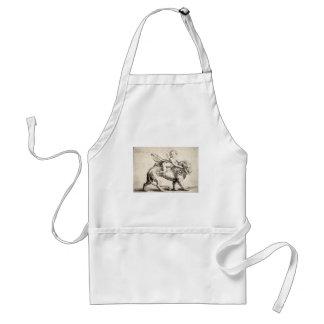 lion and cherub standard apron