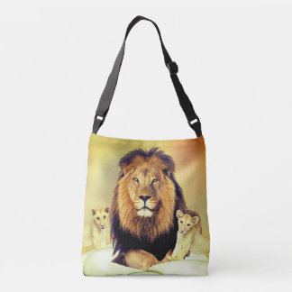 Lion and cubs tote bag