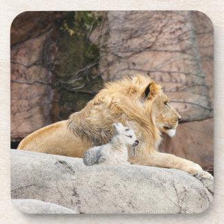 Lion And Lamb Coaster