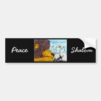 Lion and Lamb Gentle Peace Bumper Sticker