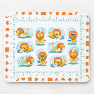 Lion and lamb mousepad for kids