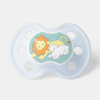 Lion and Lamb Pacifiers
