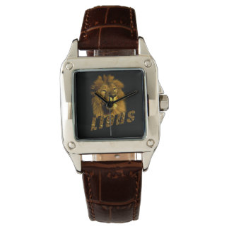 Lion And Lion Logo, Ladies Brown Leather Watch. Watch