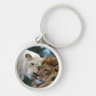 Lion and Lioness Key Ring